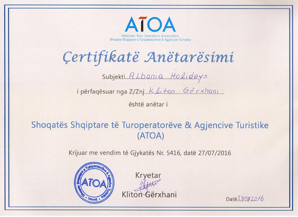 ATOA membership