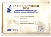 Albanian Chamber of Commerce membership